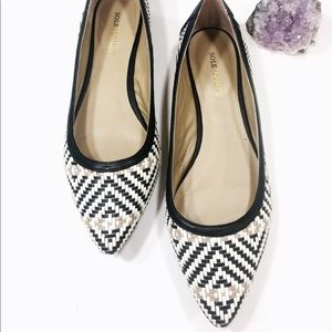 Sole Society Patterned Flats Size 9.5 EUC